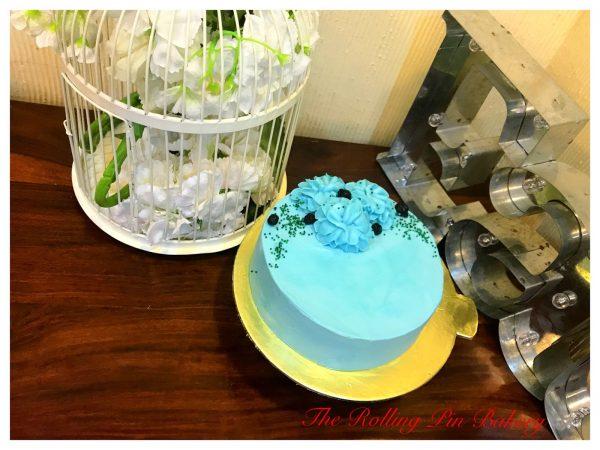 Triple Lemon Blueberry Cake