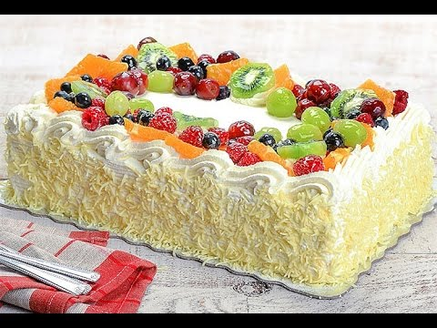 Vanilla bean custard cake