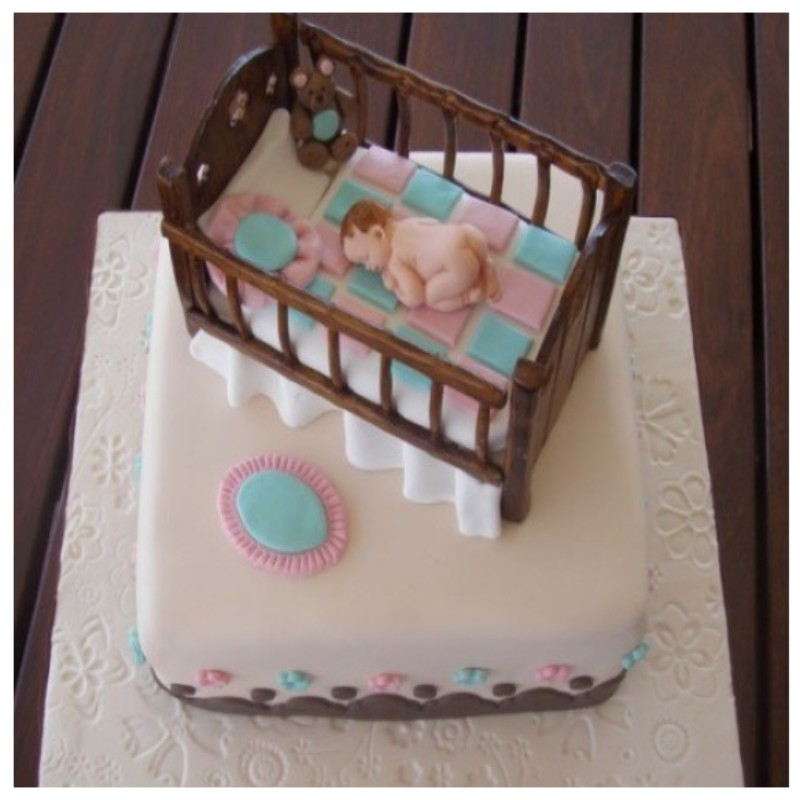 Adorable Baby Crib cake