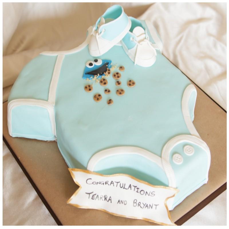 Baby onesies cake