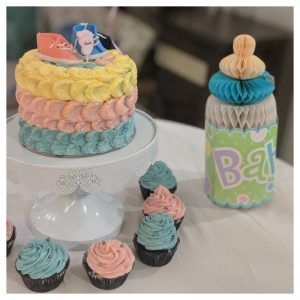Baby shoe cake topper