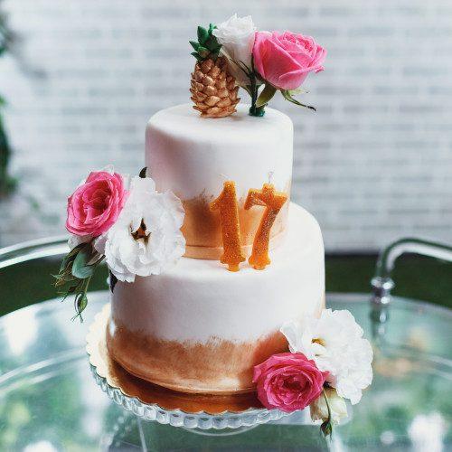 Anniversary Number Cake