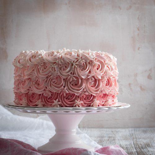 Pink Rose Swirl Cake
