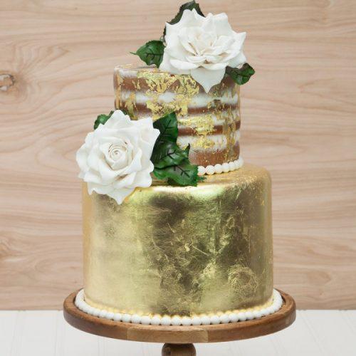 Gold Foil Cake